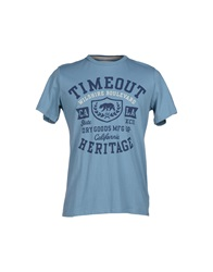 Timeout T Shirts Pastel Blue