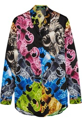 Versus Printed Silk Satin Shirt