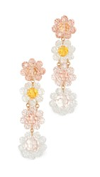 For Love And Lemons Bouquet Beaded Earrings Soft Pink