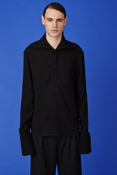 J.W.Anderson Open Collar Sailor Shirt Black