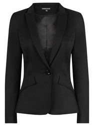 Warehouse Stab Stitch Tailored Blazer Black