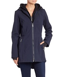 French Connection Zip Up Hooded Jacket Navy