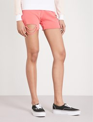 Wildfox Couture Roberta Cotton Jersey Shorts Pigment Red Flare