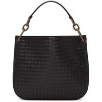 Bottega Veneta Black Intrecciato Loop Bag