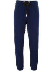 Twin Set Drawstring Track Pants Blue