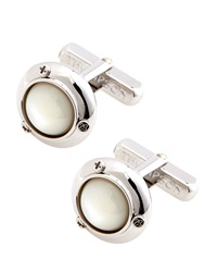 Thompson London Mother Of Pearl Ufo Cuff Links