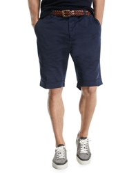 Brunello Cucinelli Twill Bermuda Shorts Navy
