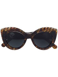 Fendi Eyewear F Is Sunglasses Brown