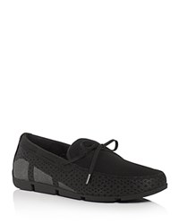 Swims Breeze Braided Lace Mesh Loafers Black