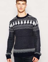 Another Influence Christmas Jumper Navy