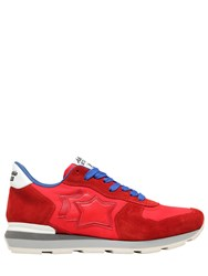 Atlantic Stars Antares Suede And Nylon Running Sneakers Red