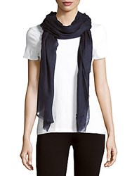 Yves Saint Laurent Solid Fringed Scarf Charcoal
