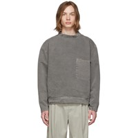 Christophe Lemaire Grey Stand Collar Shirt