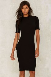 All The Mock Things Midi Dress Black