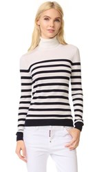 Dsquared Long Sleeve Turtleneck White Blue