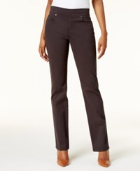 Style And Co Pull On Straight Leg Jeans Created For Macy's Carbon Grey