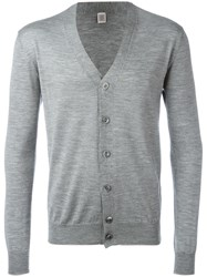 Eleventy V Neck Cardigan Grey