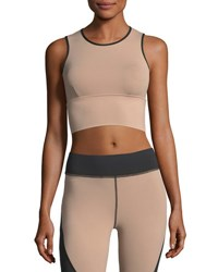 Michi Ignite Performance Crop Top Light Pink