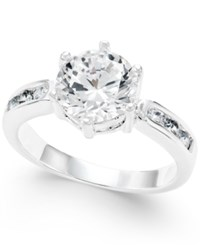Charter Club Silver Tone Round Crystal Ring Only At Macy's