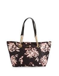 Calvin Klein Quilted Small Satchel Tote Floral Print