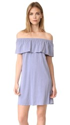 Sundry Ruffle Dress Denim Pigment