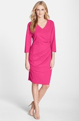 Women's Nydj 'Rosella' Stretch Crepe Sheath Dress Fuschia