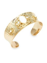 Design Lab Lord And Taylor Mother Of Pearl Crystal Cuff Bracelet Gold