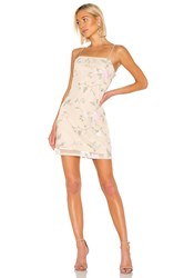 Kendall Kylie X Revolve Embroidered Mini Dress Beige