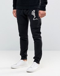 Religion Big Skeleton Jersey Jogger Black