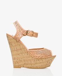 Forever 21 Cutout Cork Wrapped Wedges