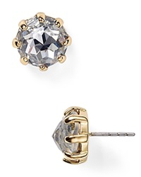 Rebecca Minkoff Rhinestone Stud Earrings Mirror Crystal Gold