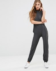 Vero Moda High Neck Lounge Jumpsuit Grey
