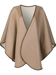 Sofia Cashmere Cape Coat Brown