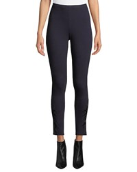 Johnny Was Plus Size Darielle Tonal Embroidered Leggings Midnight Blue