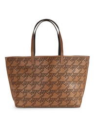 Echo Laser Cut Houndstooth Tote Vicuna Black