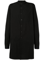 The Viridi Anne Longline Shirt Men Cotton 5 Black