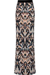 Just Cavalli Printed Crepe De Chine Maxi Skirt Multi