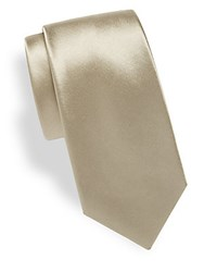 Theory Coupe Silk Tie Champagne