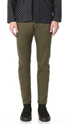 Naked And Famous Slim Stretch Twill Chino Pants Khaki Green