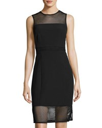 Laundry By Shelli Segal Mesh Inset Sleeveless Dress Black