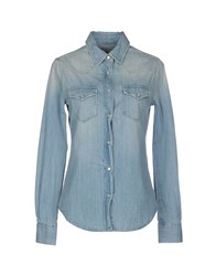 Truenyc. Denim Denim Shirts Women Blue