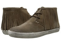 Frye Dylan Fringe Grey Oiled Suede Women's Boots Gray