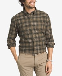 G.H. Bass And Co. Men's Big And Tall Plaid Flannel Long Sleeve Shirt Rosin