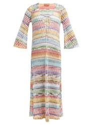 Missoni Mare Crochet Knit Lace Up Cover Up Multi