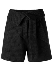 Giuliana Romanno Texturized Shorts Black