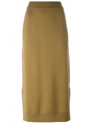 Enfold High Rise Maxi Skirt Green
