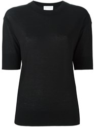 Dkny Fine Knit T Shirt Black