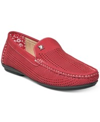 Stacy Adams Men's Pippin Perforated Moccasin Drivers Men's Shoes Red