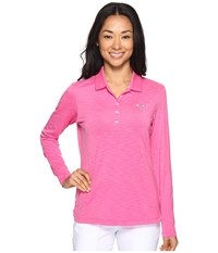 Puma Long Sleeve Polo Shocking Pink Women's Long Sleeve Pullover