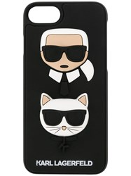 Karl Lagerfeld And Choupette Ikonik Iphone Case Black